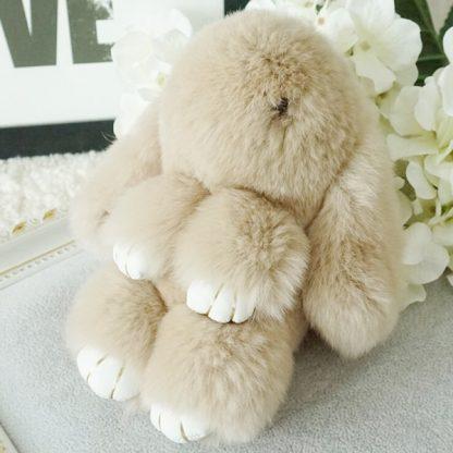 Купить Брелок - Кролик из натурального меха