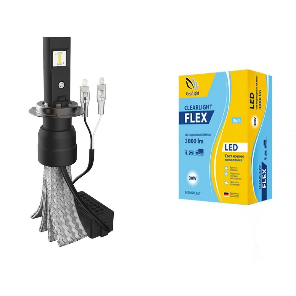 светодиодные лампы для авто Led Clearlight Flex H7 3000 Lm 2 шт