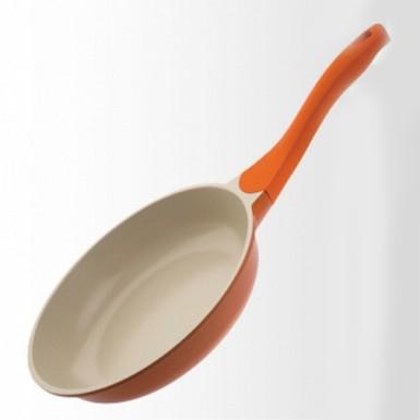 Купить Сковорода Biostal 24см - оранжевый/бежевый Bio-FP-24 в Москве по недорогой цене