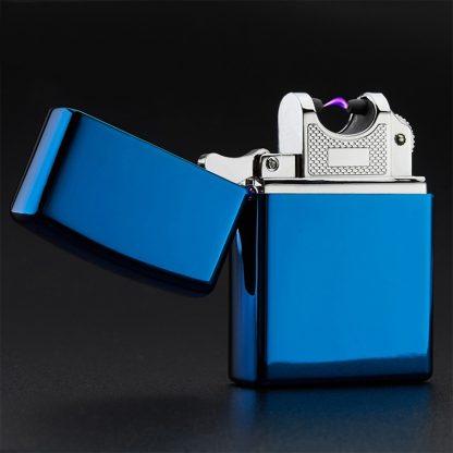 Купить USB зажигалка электроимпульсная - синий глянец в Москве по недорогой цене