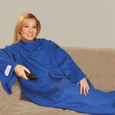 Купить Плед с рукавами Snuggie (Снагги) синий в Москве по недорогой цене